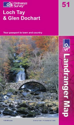 Loch Tay and Glen Dochart By Ordnance Survey