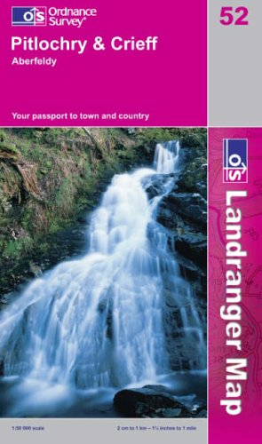 Pitlochry to Crieff By Ordnance Survey