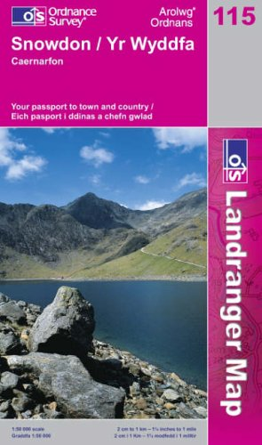 Snowdon and Caernarfon By Ordnance Survey