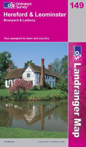 Hereford and Leominster, Bromyard and Ledbury By Ordnance Survey