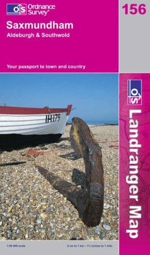 Saxmundham, Aldeburgh and Southwold By Ordnance Survey