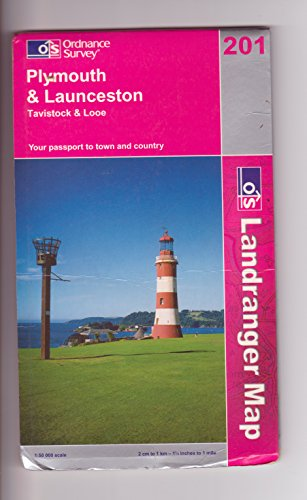 Plymouth and Launceston, Tavistock and Looe By Ordnance Survey