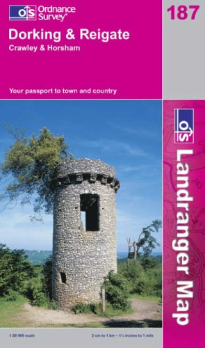 Dorking and Reigate, Crawley and Horsham (Landranger Maps) By Ordnance Survey