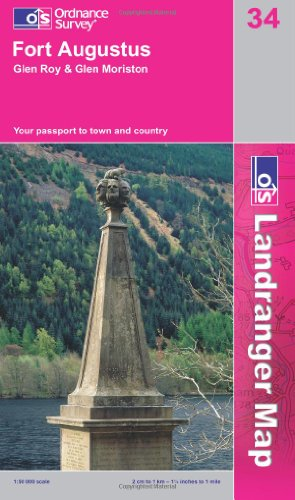 Fort Augustus, Glen Albyn and Glen Roy (OS Landranger Map Series) By Ordnance Survey
