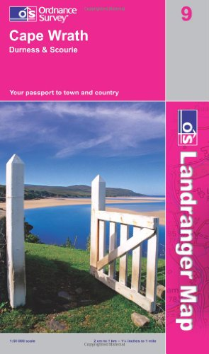 Cape Wrath, Durness and Scourie By Ordnance Survey