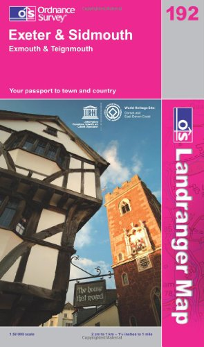 Exeter and Sidmouth, Exmouth and Teignmouth By Ordnance Survey