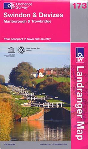 Swindon, Devizes, Malborough and Trowbridge By Ordnance Survey