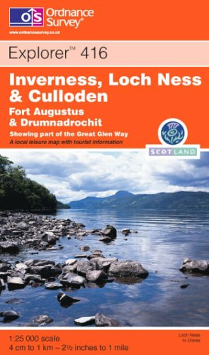Inverness, Loch Ness and Culloden By Ordnance Survey