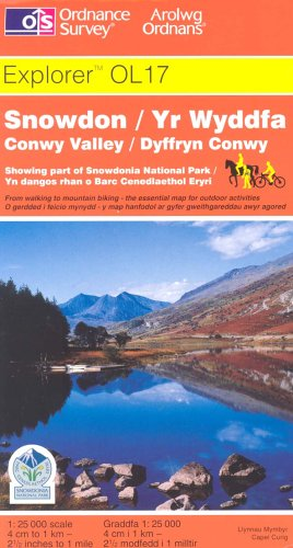 Snowdon and Conwy Valley (Explorer Maps) By Ordnance Survey