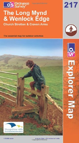 Long Mynd and Wenlock Edge By Ordnance Survey