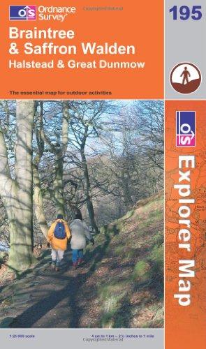 Braintree and Saffron Walden By Ordnance Survey