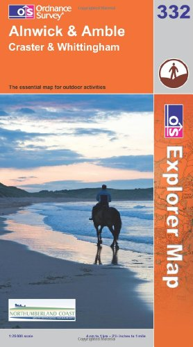 Alnwick and Amble, Craster and Whittingham (OS Explorer Map) By Ordnance Survey