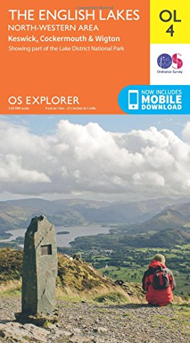 OS Explorer OL4 The English Lakes - North Western area (OS Explorer Map) By Ordnance Survey