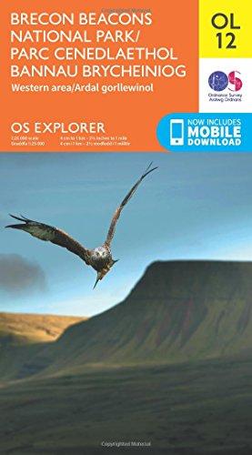 OS Explorer OL12 Brecon Beacons National Park - Western & Central areas (OS Explorer Map) By Ordnance Survey