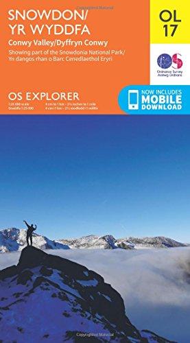 OS Explorer OL17 Snowdon & Conwy Valley (OS Explorer Map) By Ordnance Survey