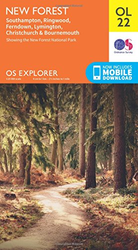 OS Explorer OL22 New Forest, Southampton, Ringwood, Ferndown, Lymington, Christchurch and Bournemouth (OS Explorer Map) By Ordnance Survey