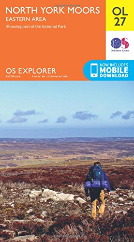 OS Explorer OL27 North York Moors - Eastern area (OS Explorer Map) By Ordnance Survey