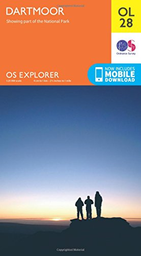 OS Explorer OL28 Dartmoor (OS Explorer Map) By Ordnance Survey