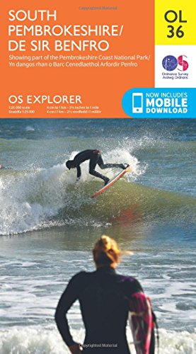 OS Explorer OL36 South Pembrokeshire (OS Explorer Map) By Ordnance Survey