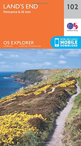 Land's End, Penzance and St Ives By Ordnance Survey