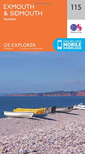 OS Explorer Map (115) Exmouth and Sidmouth By Ordnance Survey