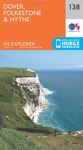 Dover, Folkstone and Hythe By Ordnance Survey