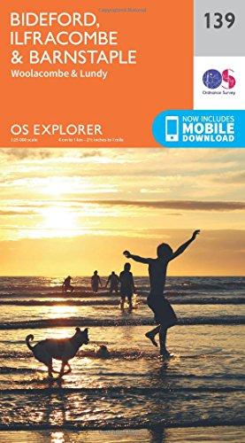 OS Explorer Map (139) Bideford, Ilfracombe and Barnstaple By Ordnance Survey