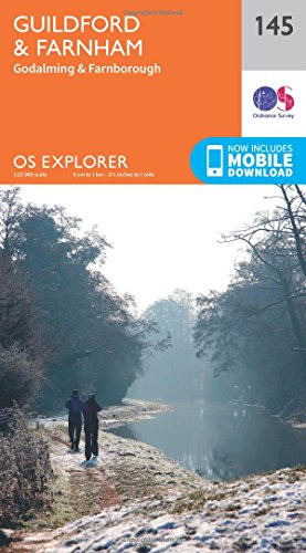 OS Explorer Map (145) Guildford and Farnham By Ordnance Survey