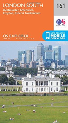 London South, Westminster, Greenwich, Croydon, Esher & Twickenham By Ordnance Survey