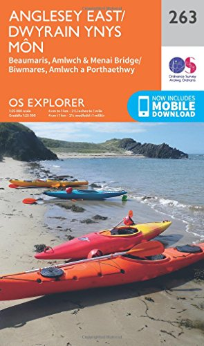 OS Explorer Map (263) Anglesey East By Ordnance Survey