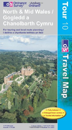 North and Mid Wales (OS Travel Series - Tourist Map) (OS Travel Map - Tour Map) By Ordnance Survey