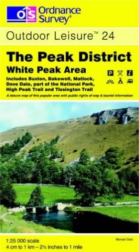 The Peak District: White Peak Area (Explorer Maps) By Ordnance Survey
