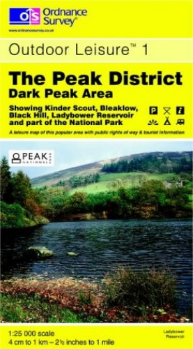 The Peak District: Dark Peak Area (Outdoor Leisure Maps) By Ordnance Survey