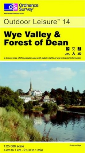 Wye Valley and Forest of Dean By Ordnance Survey