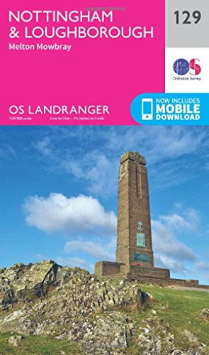 Nottingham & Loughborough, Melton Mowbray By Ordnance Survey