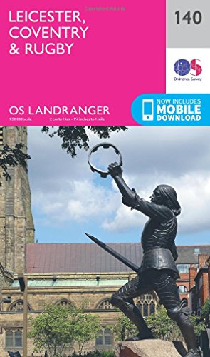 Leicester, Coventry & Rugby By Ordnance Survey