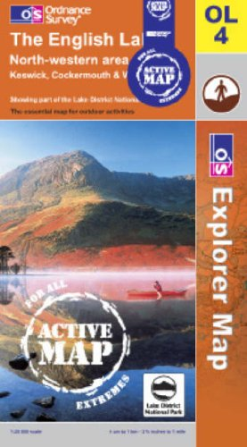The English Lakes - North Western Area By Ordnance Survey