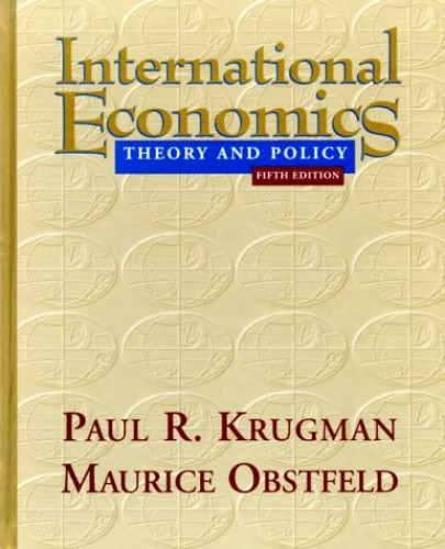 International Economics By Paul R. Krugman