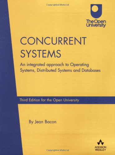 Concurrent Systems By Jean Bacon
