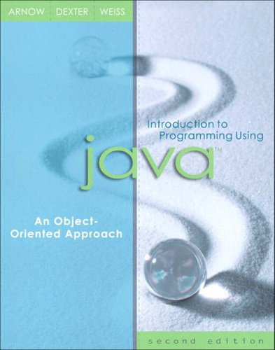 Introduction to Programming Using Java By David Arnow