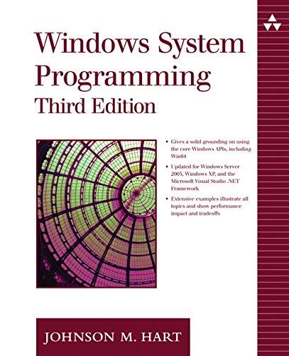 Windows System Programming By Johnson M. Hart