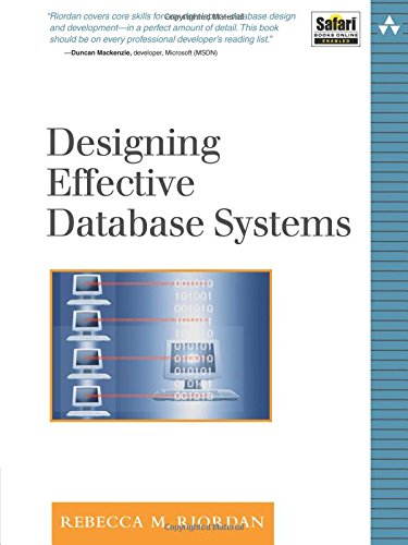 Designing Effective Database Systems By Rebecca M. Riordan