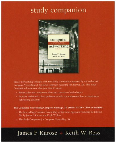 Study Companion for Computer Networking By James F. Kurose