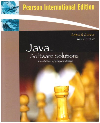 Java Software Solutions By John Lewis