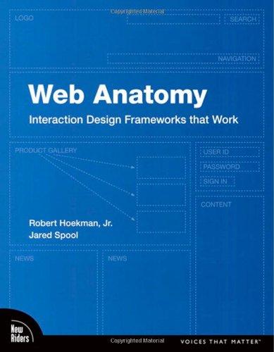 Web Anatomy: Interaction Design Frameworks that Work (Voices That Matter) By Robert Hoekman, Jr.