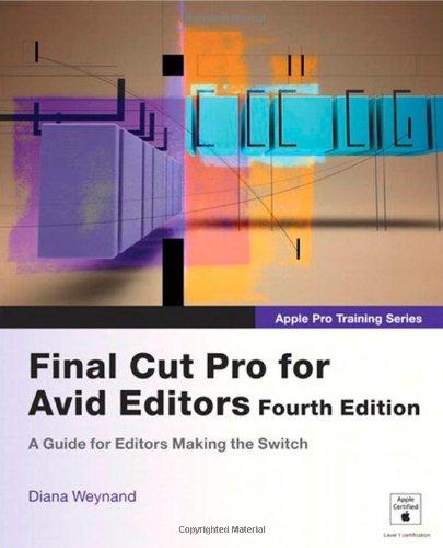 Apple pro training series final cut pro 7 by diana weynand pdf