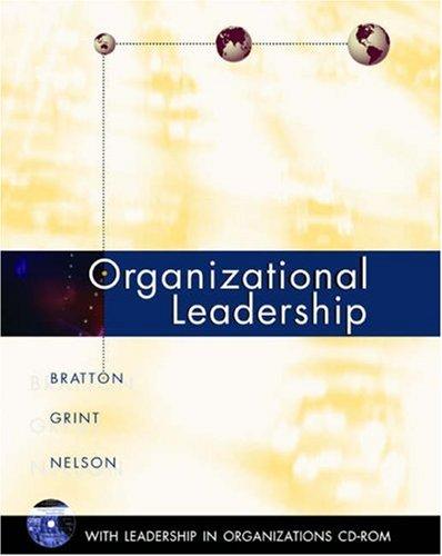 Organizational Leadership By John Bratton
