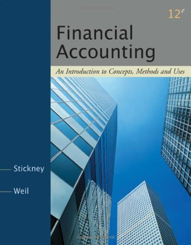 Financial Accounting By Clyde P. Stickney