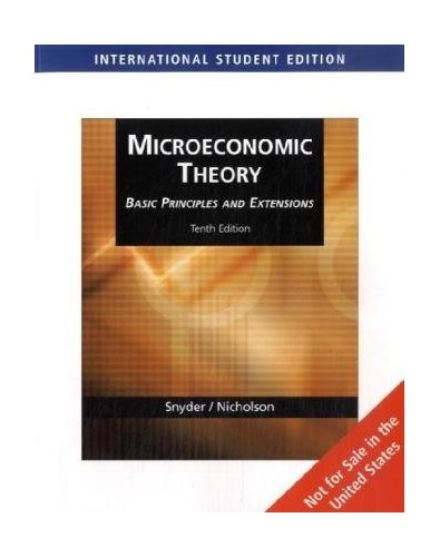 Microeconomic Theory By Walter Nicholson