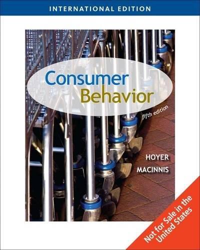 Consumer Behavior International Edition By Wayne Hoyer
